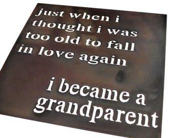 Steel Square 'Grandparent' Sign