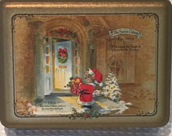The Swiss Colony Est. 1926, 75th Anniversary Christmas Tin - FREE SHIPPING!