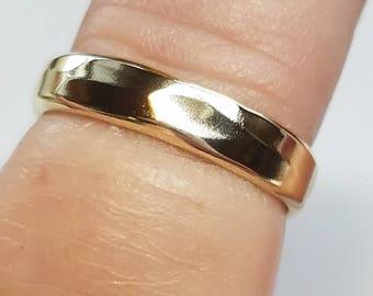 Gold Toe Ring, Gold Toe Rings, Gold Ring, Gold Midi Ring, Boho Ring, Toe Ring, Gold Knuckle Ring, Hammered Gold Ring, Gold Stacking Rings