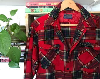 70's Pendleton // Wool Plaid // Board Shirt // Pendletones // Vintage // Rockabilly // Lumberjack // Grunge // Thrashed // Size Medium //