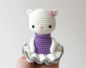 CAT amigurumi crochet, crochet cat, amigurumi cat, crochet kitty, cat ballerina, ballerina doll, ballerina baby gift, gift for kids