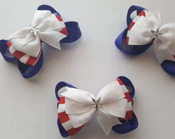Fourth of july bow clip