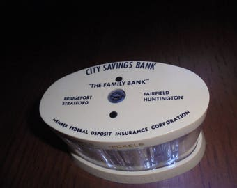 Vintage City Savings Family Coin Bank