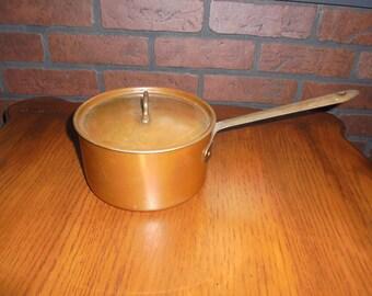 Vintage Douro B & M Copper Sauce Pan with Lid