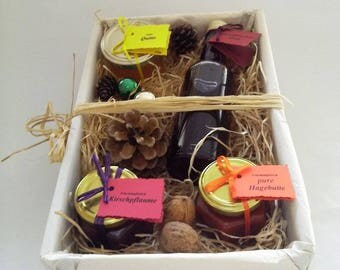 "Gift basket ""Wild fruit"" mother's Day, Valentistag, syrup, jelly, jam"