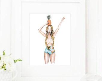Anana • Art Print   Fashion Illustration