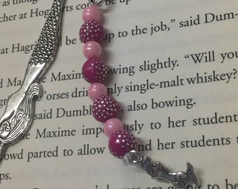 Metal Bookmark, Back to School, Bookmarks, School Accessories, Reading, Stocking Stuffer, Book Gift, Book Charms, Crystals, Charms
