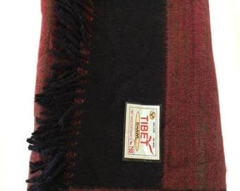 Tibetan Yak Wool - Woolen Shawl Blanket - Throw Blanket - Beach Blanket