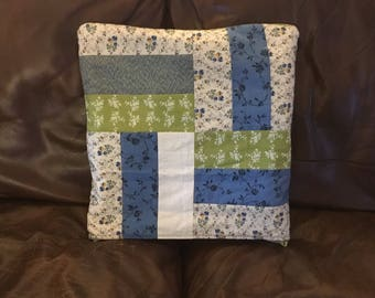 Quilted quillow, quilt and pillow, lap quilt, quilted throw, travel blanket, travel pillow