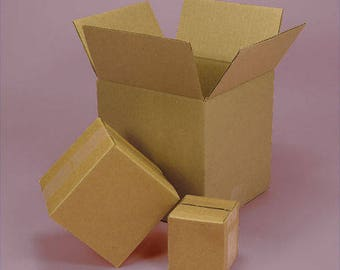 shipping cardboard boxes ( 5 boxes ) 12 x 5 x 4