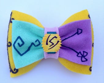Alice in wonderland Mad hatter tea party teacup disney ride inspired hair bow