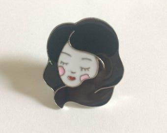 Lovely Lady Enamel Pin