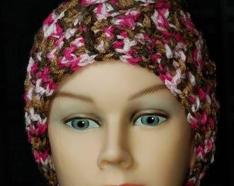 Pink Camo Messy Bun Hat