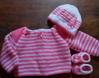 For baby, life jacket, bonnet and booties set