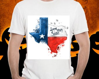 TEXAS WATERCOLOR Unisex Tshirt Texas Strong Lone Star State Pride Native Texan Tee Austin Houston Dallas Frisco Plano Wearable Treasure Tee!