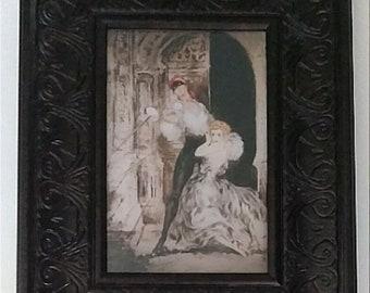 "Framed Louis Icart 1928 ""Don Juan"" Digital Print 4"" x 6"""