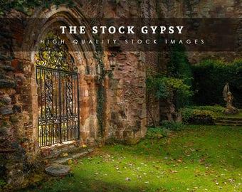 Secret Garden Gates -Fantasy Stock image