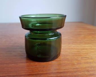 Green Glass Dansk Design Candle Holder