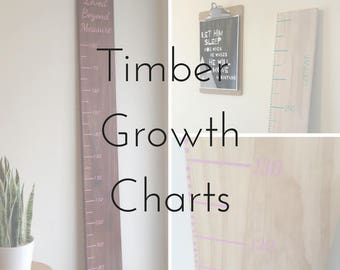 Timber / Wooden Growth Chart / Measurement Chart