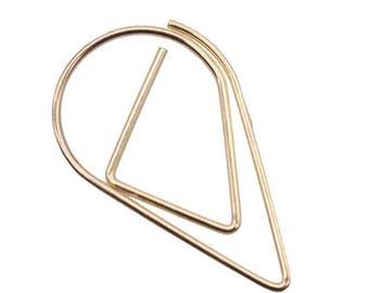 25 PCS Teardrop Paper Clips Gold Raindrop Metal Paper Clip, Paper Clips, Binder Paper Clip