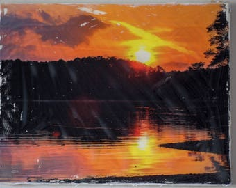 Sunset and Lake Allatoona