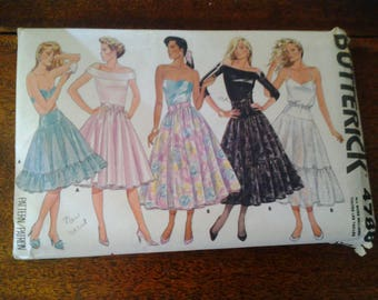 1987  Vintage Butterick 4788  sizes 6 to 18  UNCUT!