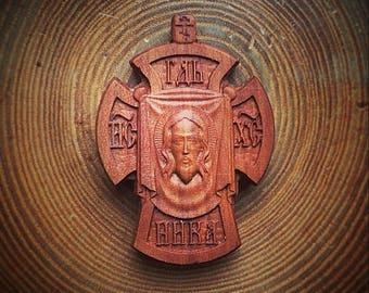 Orthodox pearwood cross #4