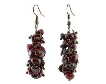 Vintage garnet earrings Sister Gifts|for|her Natural garnet earrings Vintage Dangle earring January birthstone earrings Capricorn birthstone