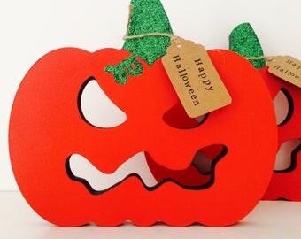 Scary pumpkin decoration, jack o'lantern, Halloween pumpkin, Halloween decor, carved pumpkin, halloween party, All Hallows' eve decor,