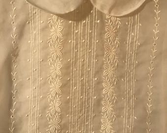 Antique sheer Blouse with Embroidery