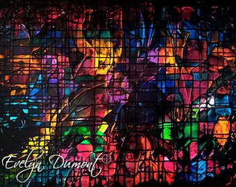 """Canvas """"Stained glass 2"""" Evelyn Dumont artist"""