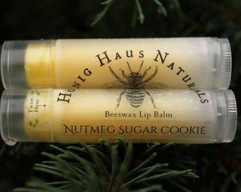 Nutmeg Sugar Cookie Lip Balm | All Natural Beeswax Lip Balm