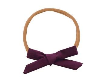 Schoolgirl Bow or Pigtail Set /// Merlot