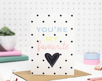 Anniversary Card - boyfriend card - girlfriend card - card for girlfriend - card for boyfriend - Love card - Husband card - Wife card