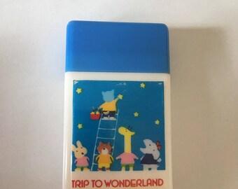1976 vintage sanrio Trip to wanderland eraser made in japan