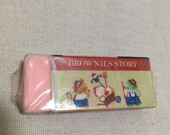 1987 Sanrio BROWNIES STORY eraser made in japan