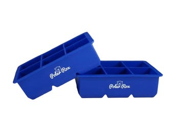 Polar Rox Silicone Ice Cube Trays | Extra Large Square Molds | Beverages | Bake Safe for Candy, Chocolate, Baby Food | Soap | Crafts