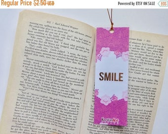 SALE50OFF Smile Bookmark | Laminated | Gold Accent | Bookworm | Book accessories | Books | Reading | Wide Reader