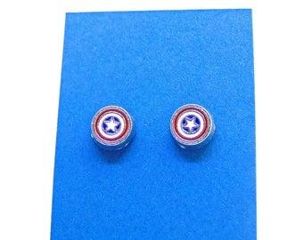 Cute Little Captain America Stud earrings