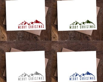Christmas Mountains Cards