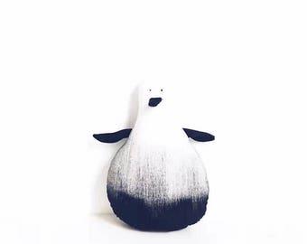 Monocromatic Stuffed Penguin Black and White
