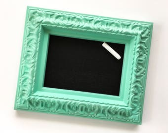 Personal sized chalkboard, Sea Green Frame