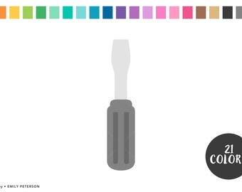 Screwdriver, Tools, Toolbox, Father's Day - Cute Clipart, Clip Art - Commercial Use, Instant Download