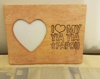 My heart belongs Yia Yia and I Love my Yia Yia and Papou frames