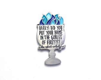 "Goblet of Fire Harry Potter 1.5"" Soft Enamel Lapel Pin"