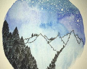 Small watercolour prints
