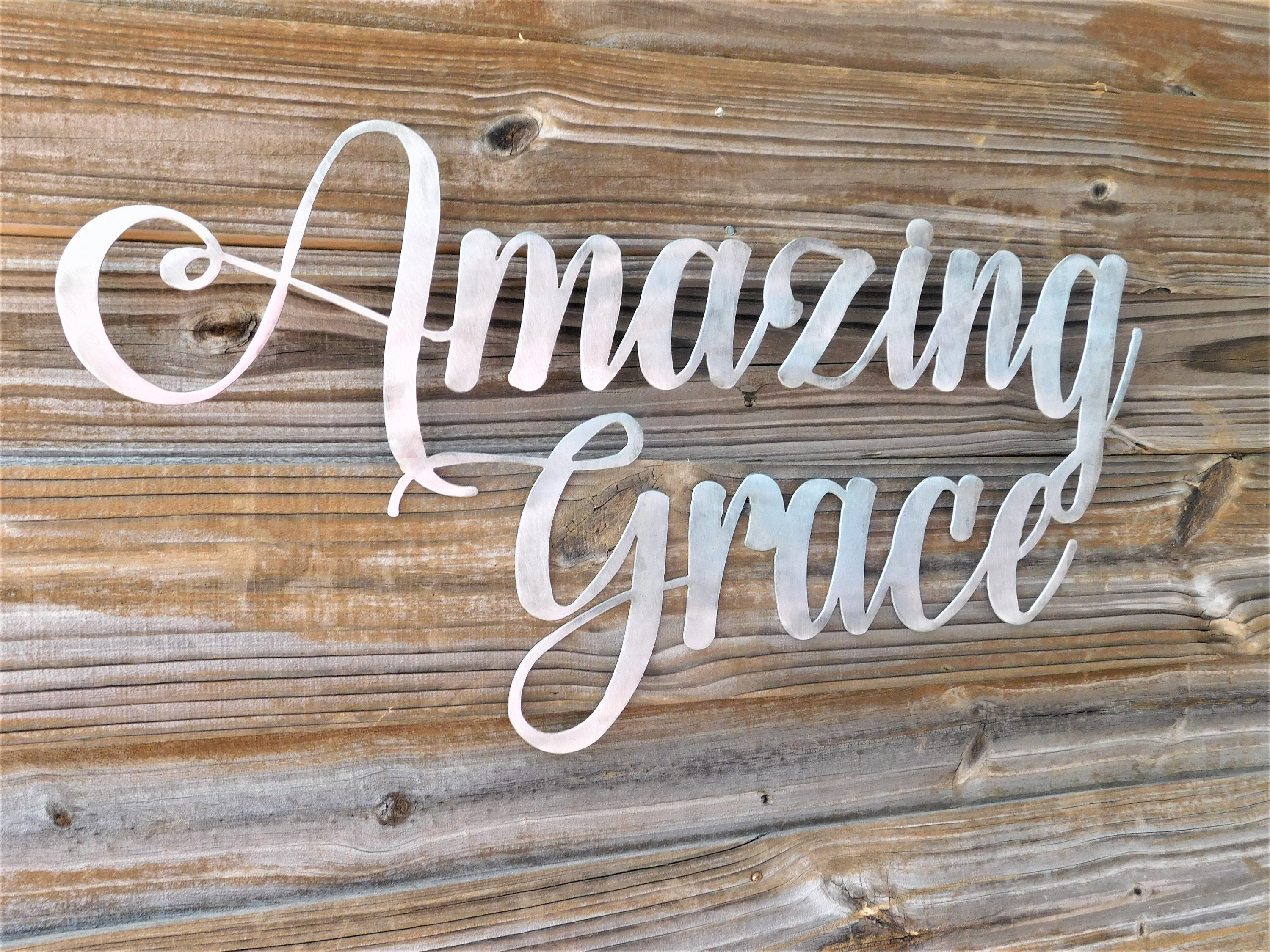 Amazing Grace Wall Art amazing grace sign, amazing grace wall art, bible verse wall art
