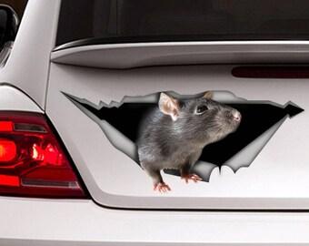 Rat decal,  car decal, Vinyl decal, car decoration, animal decal, pet decal