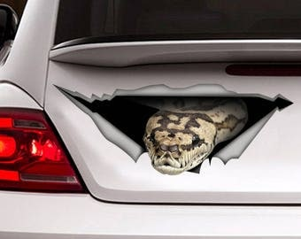 Tiger  python car decal, Vinyl decal, car decoration, snake decal, python sticker, reptile decal