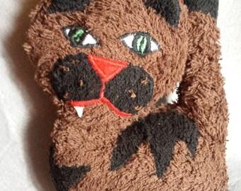 "Cuddly little cat ""Ronaldo"" 20 x 15 cm fabric sponge"